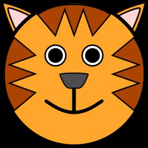 300x300 Circle Tiger Head Clip Art