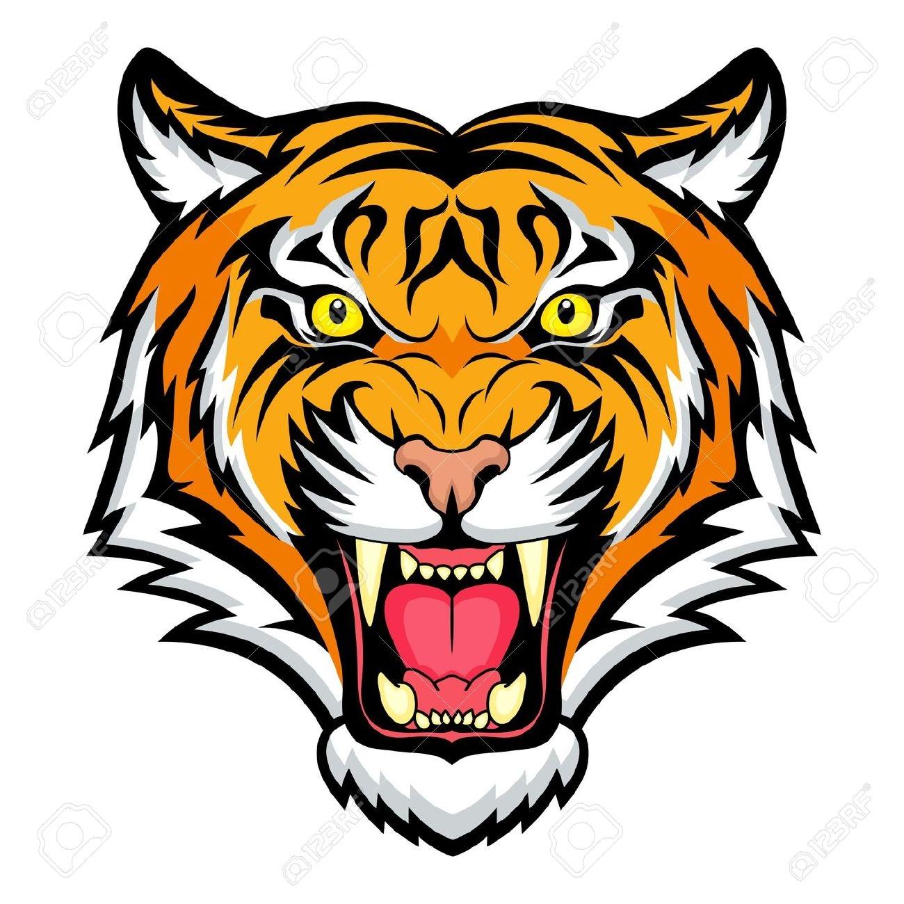 1300x1300 Clip Art Tiger Head Clip Art