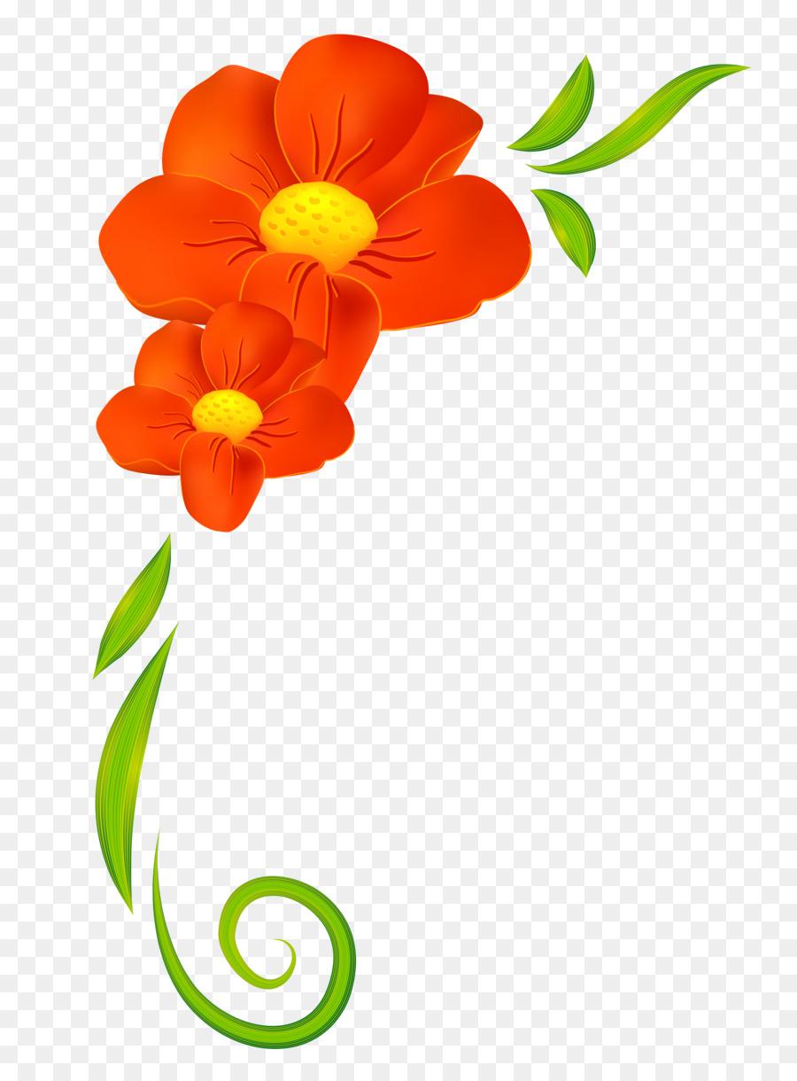 900x1220 Flower Orange Clip Art