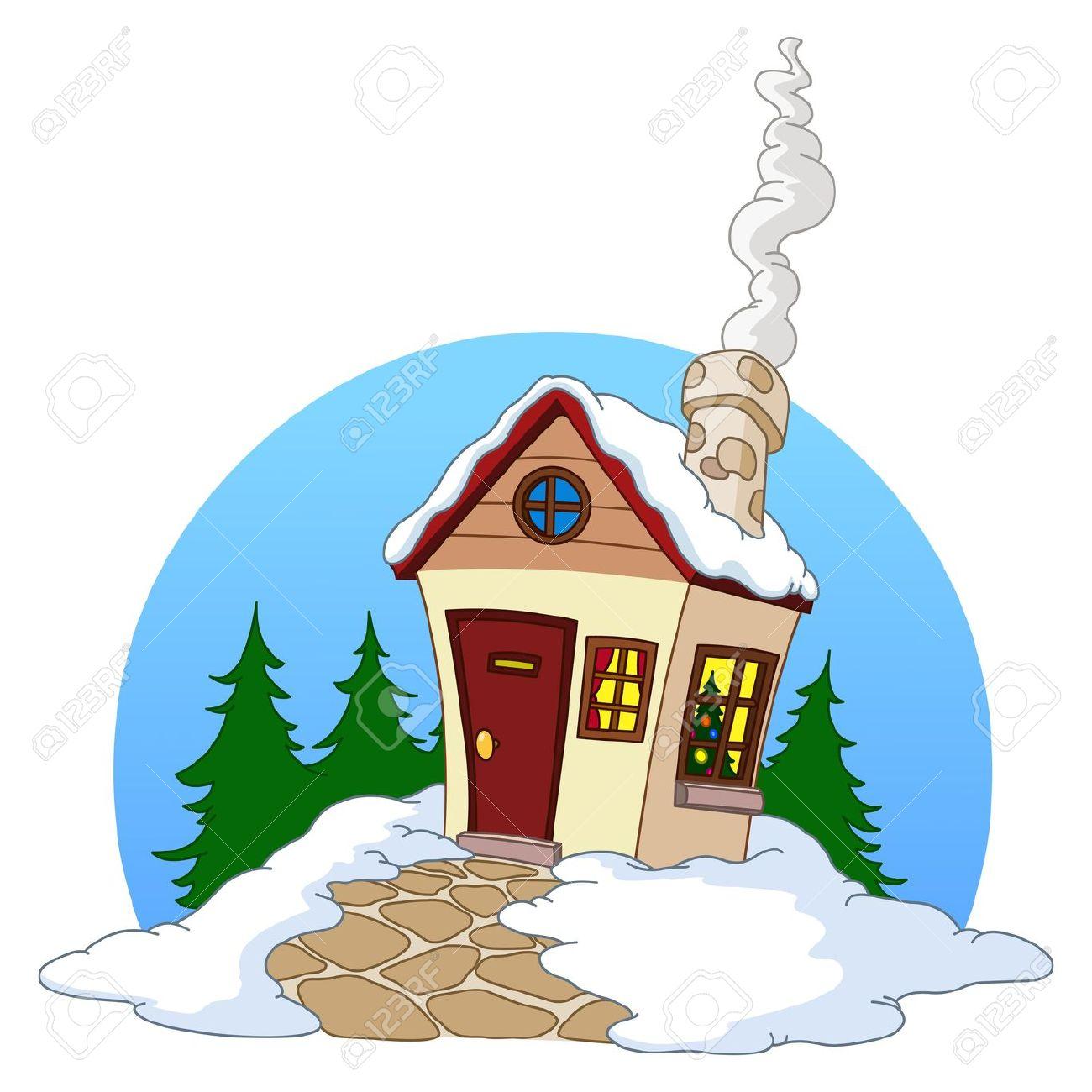 1300x1300 Fir Home's Hut Clipart