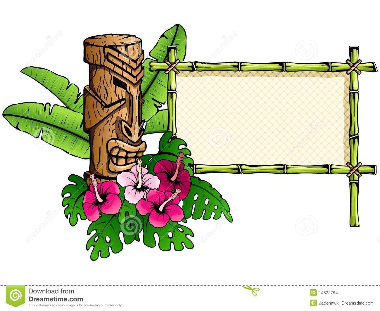 1300x1065 Hawaiian Tiki Clip Art Borders Clipart Panda Free Clipart Images