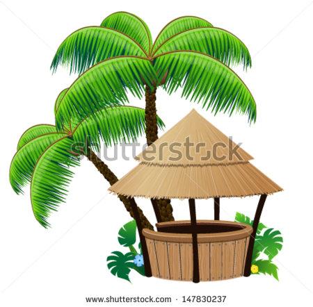450x442 Hut Clipart Palm