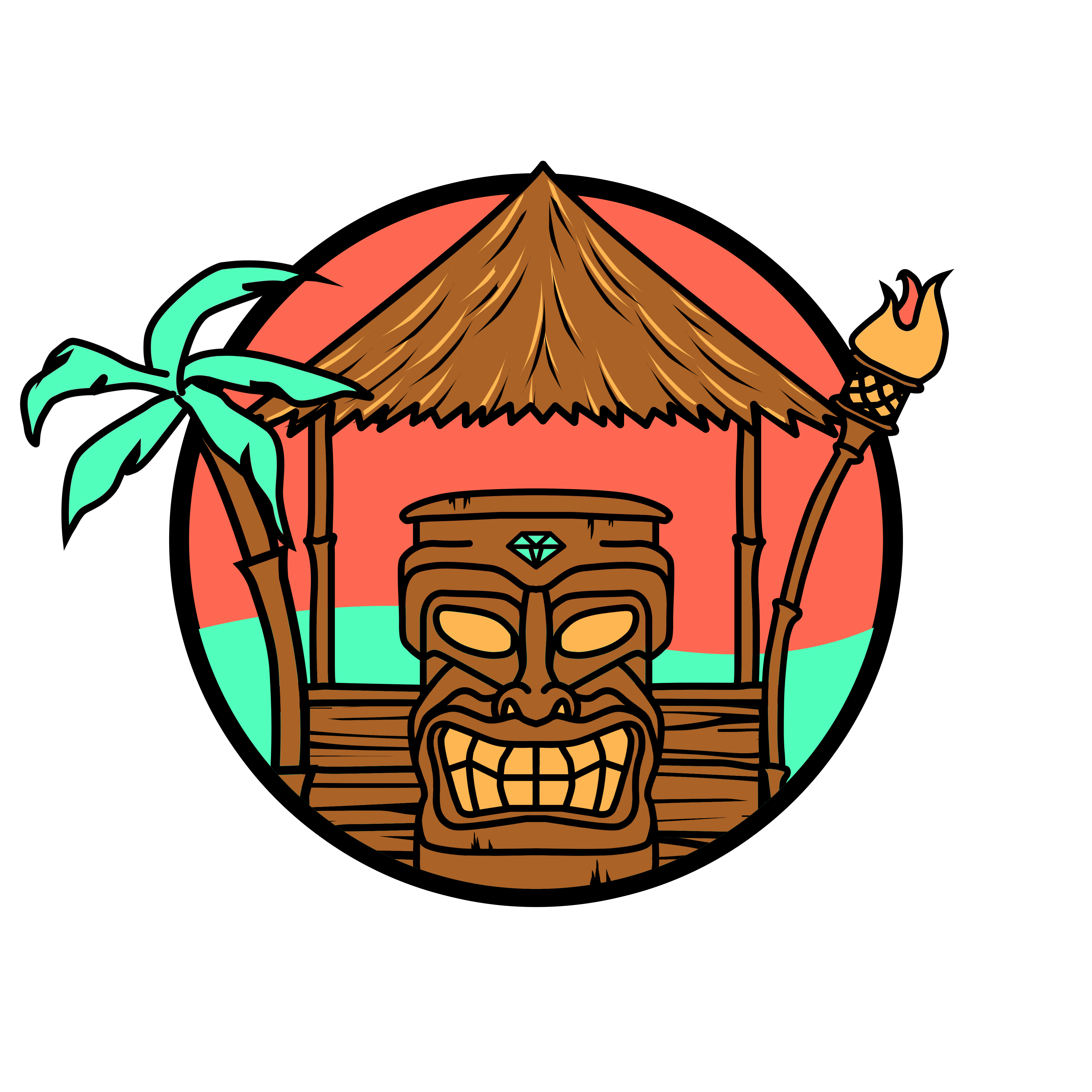 tiki hut clipart at getdrawings com free for personal use tiki hut rh getdrawings com  tiki hut clipart black and white