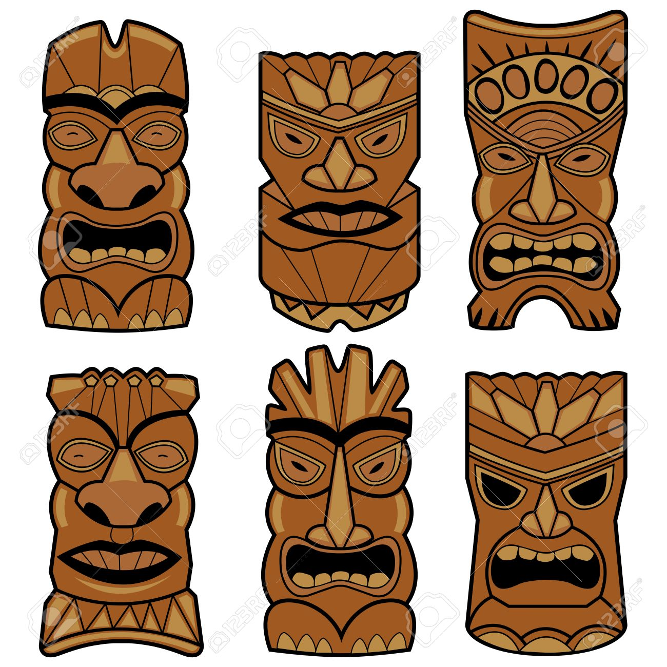 1300x1300 Collection Of Tiki Statue Clipart High Quality, Free
