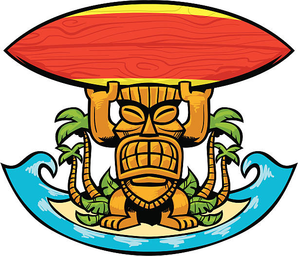 612x525 Super Tiki Clip Art Images Clipart Surfboard Pencil And In Color