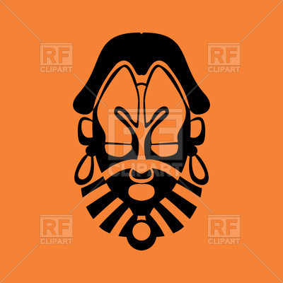400x400 Unique Tiki Clipart Tribal Mask Icon Royalty Free Vector Clip Art