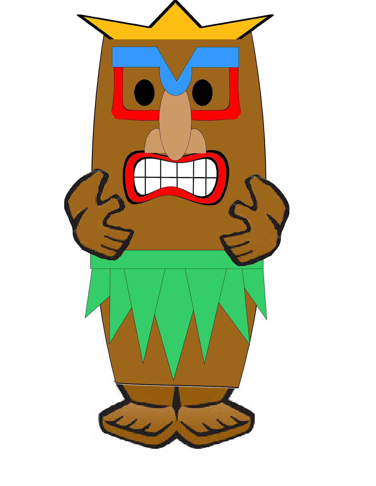 1236x1600 Hawaii Clipart Tiki God Free Collection Download And Share