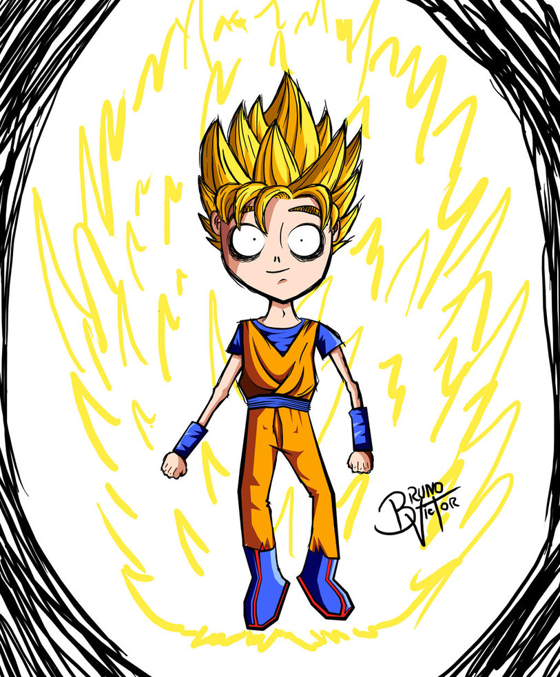 813x983 Goku As A Tim Burton Design! By Brunovictor