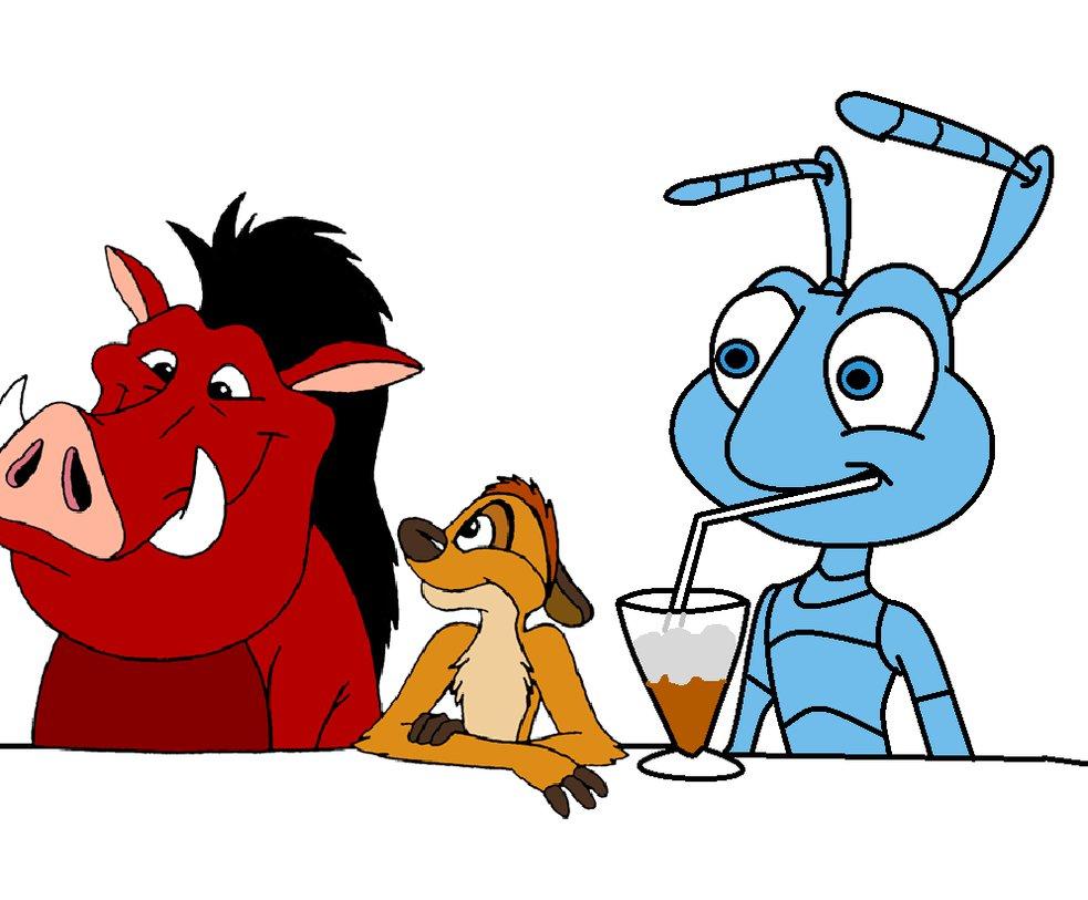 983x813 Flik Drinking Milkshake With Timon And Pumbaa By Chestercheetosfan