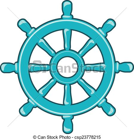 450x470 Rudder Icon Or Ship Wheel Isolated On White Vector Clip Art