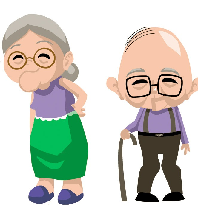 663x698 Old Couple Clip Art Funny Old Couple Clipart Free Clipart