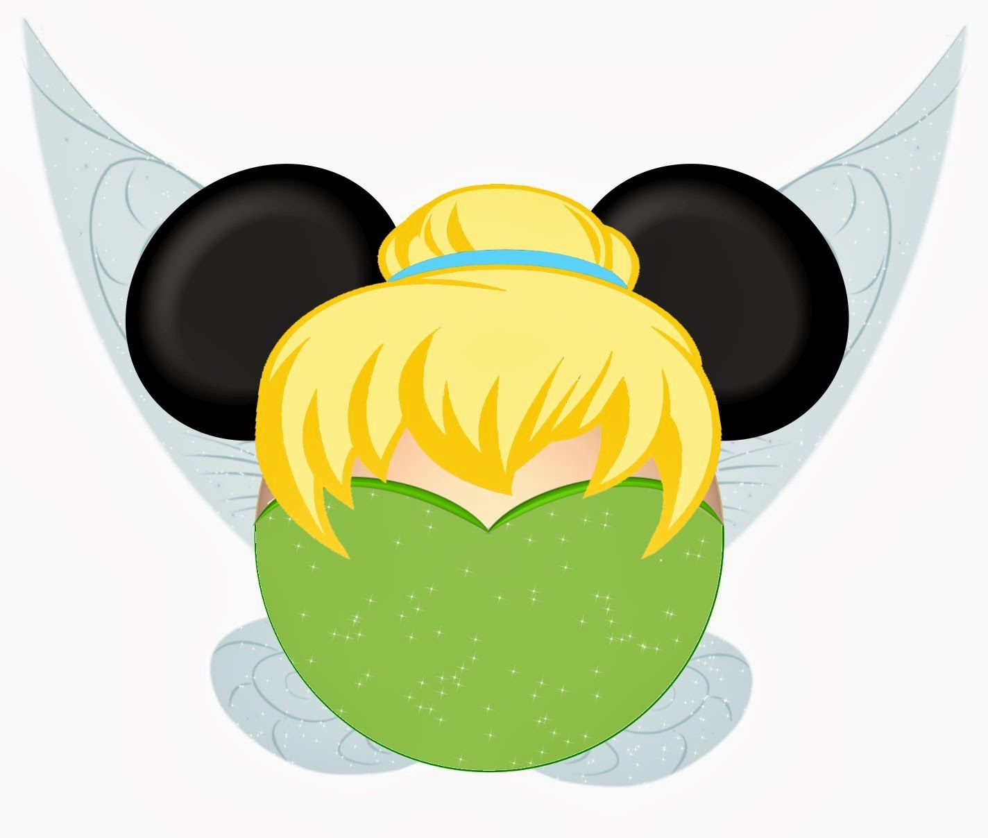 1424x1208 Tinkerbell And Friends In Mickey Heads. Digital Clip Art 4