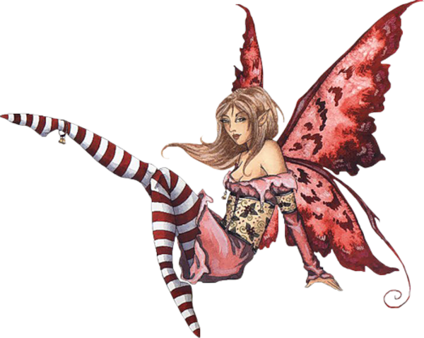 600x478 Fantasy Fairy Socks Sitting Red Free Images