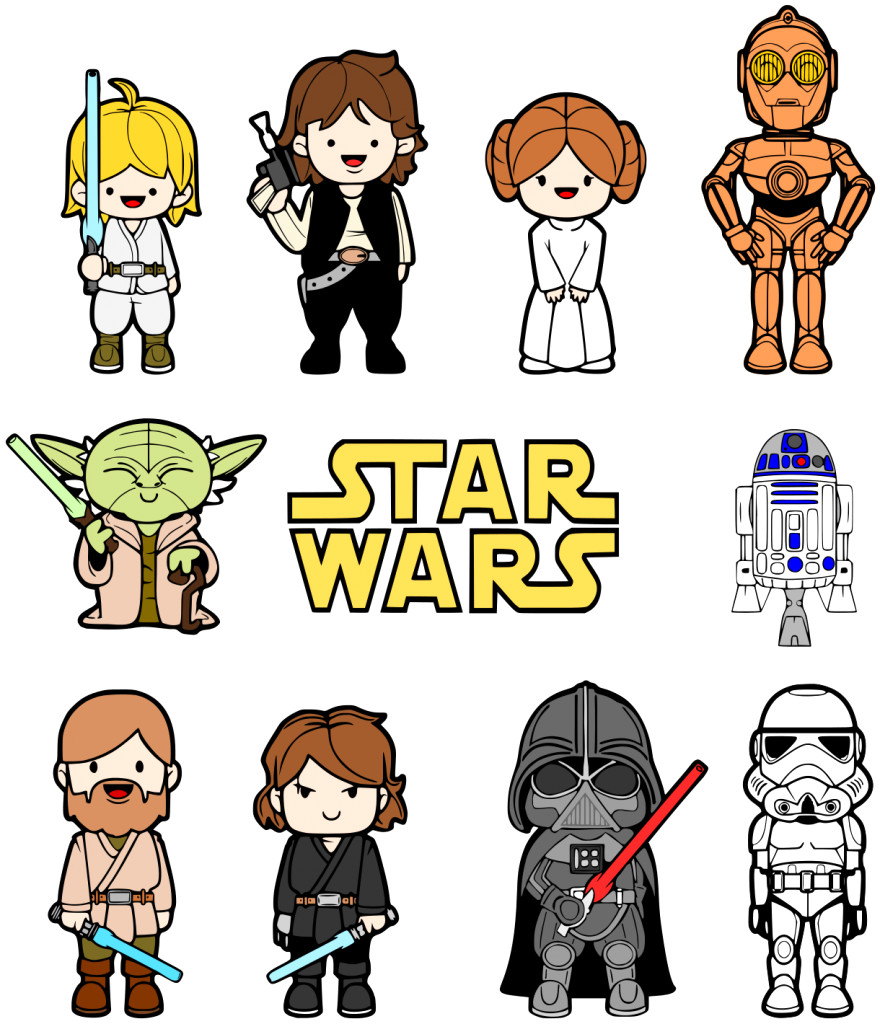 880x1024 Star Wars Clipart Black And White Cilpart Striking Clip Art Free