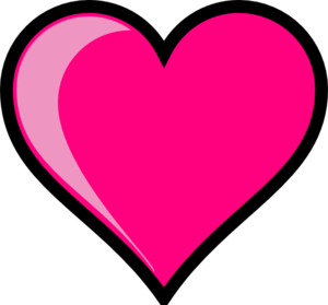 300x279 Clip Arthearts Pink Heart Clip Art