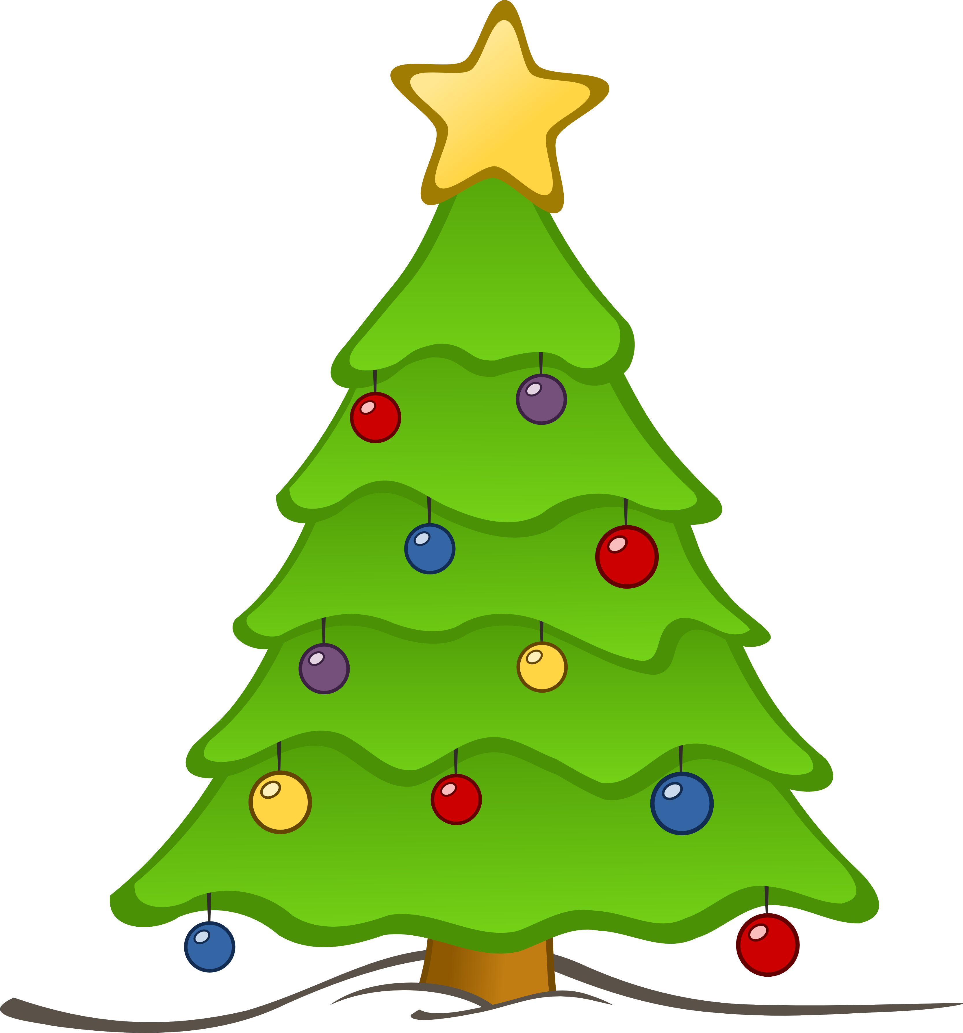 3333x3575 Christmas Tree Clip Art Free Clipart Panda Images Tiny