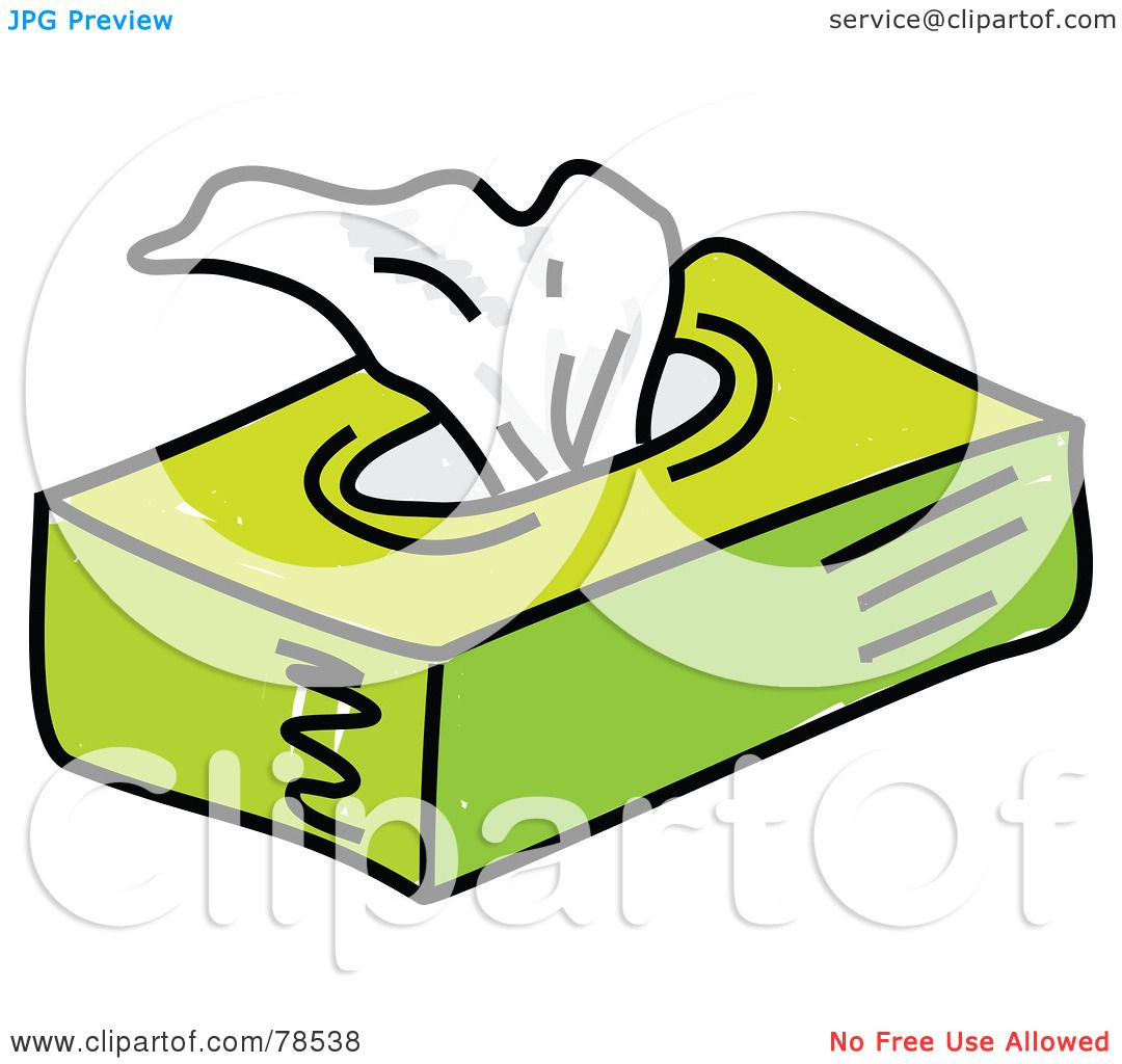1080x1024 Royalty Free (Rf) Clipart Illustration Of A Green Facial Tissue