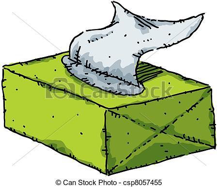 450x386 Tissue Box. A Cartoon Box Of Tissues. Stock Illustrations