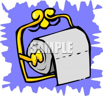 350x325 Toilet Tissue On A Brass Holder