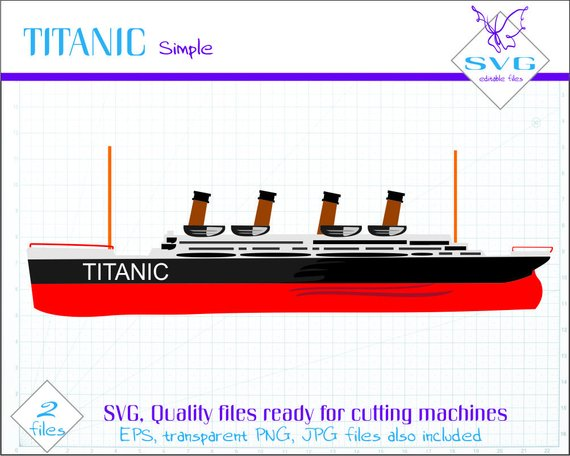 570x456 Svg, Titanic Art, Titanic Ship, Cut File, Ship Svg File, Ship Clip
