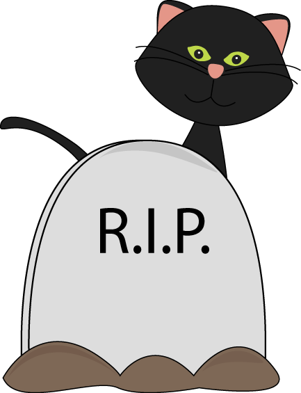 433x565 Halloween Black Cat And Rip Tombstone Clip Art Clip Art