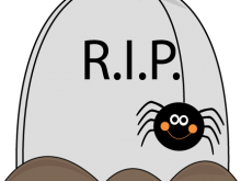 220x165 Halloween Tombstones Clipart