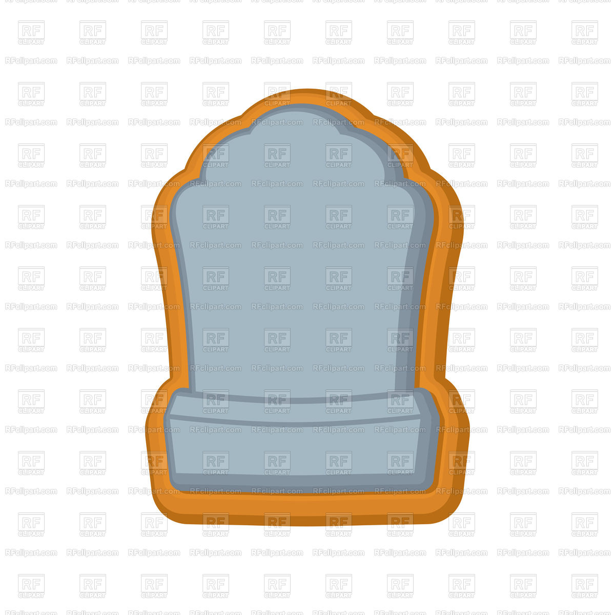 1200x1200 Halloween Cookie Tombstone. Royalty Free Vector Clip Art Image