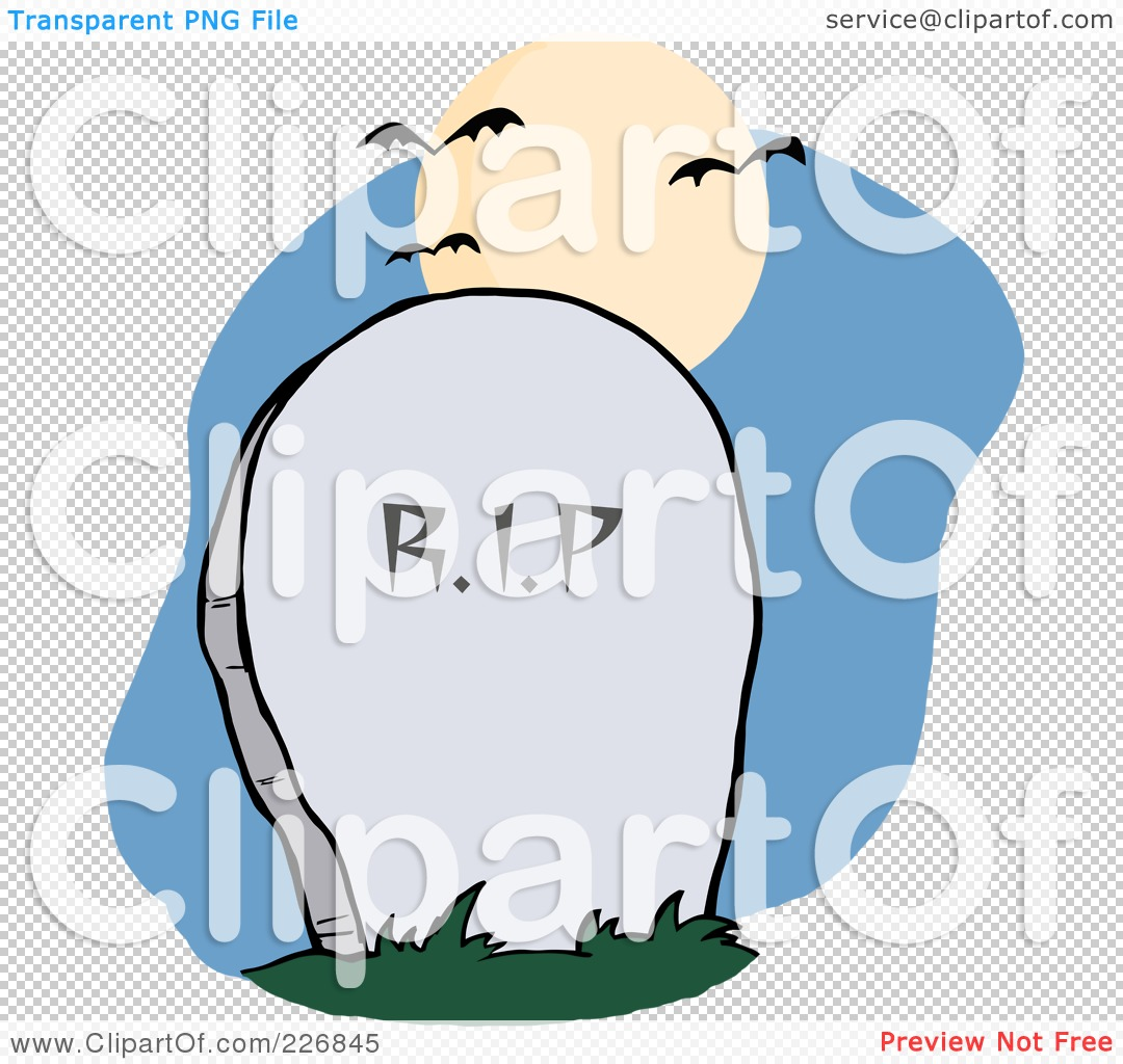 1080x1024 Royalty Free (Rf) Clipart Illustration Of A Stone Rip Headstone