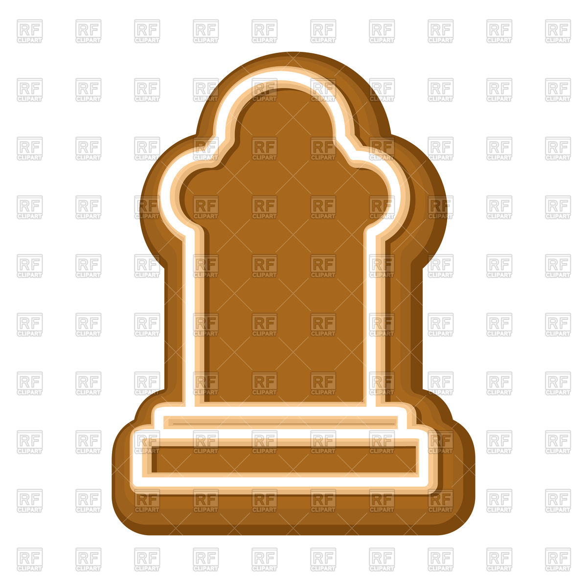 1200x1200 Tombstone Made Of Halloween Cookie Royalty Free Vector Clip Art