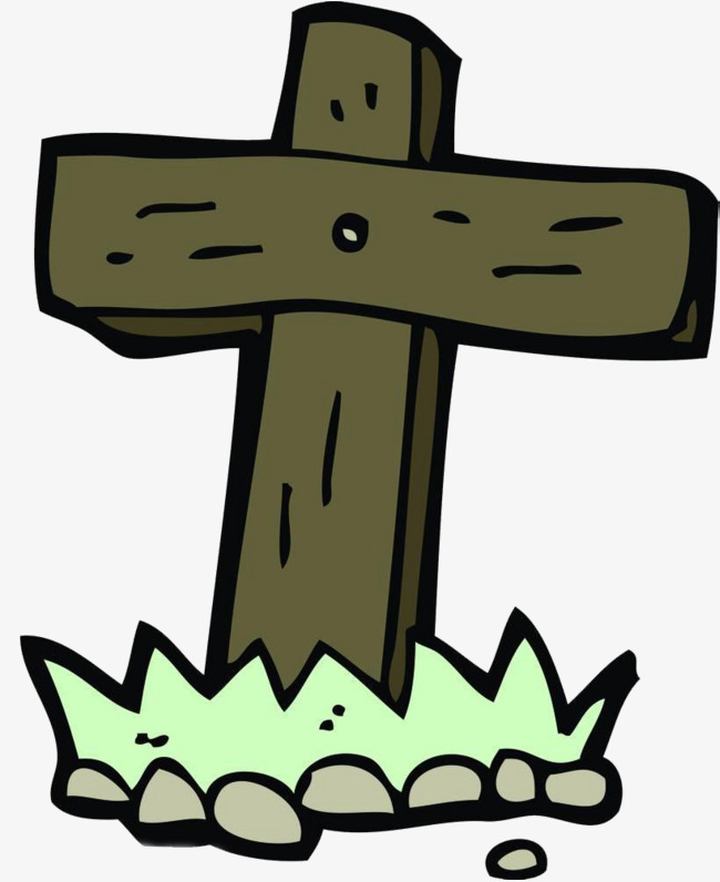 650x796 Cartoon Cross, Cross, Cross Tombstone, Mourn The Dead Png Image
