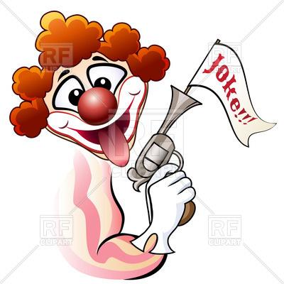 400x400 Clown With Bang Gun Shows His Tongue Royalty Free Vector Clip Art