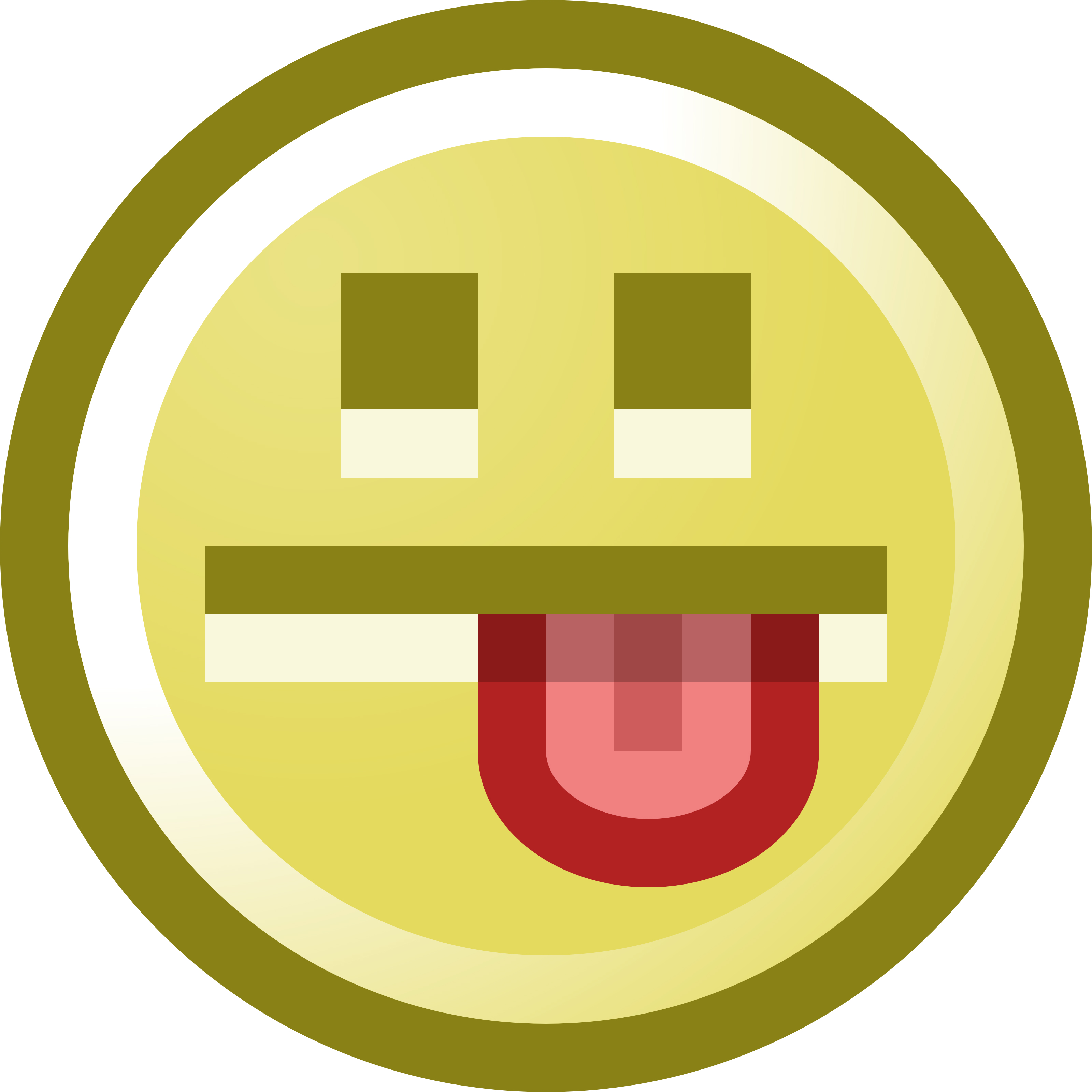 3200x3200 Free Smiley Face Sticking Tongue Out Clip Art Illustration