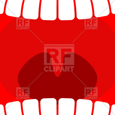 400x400 Open Mouth With Teeth And Tongue