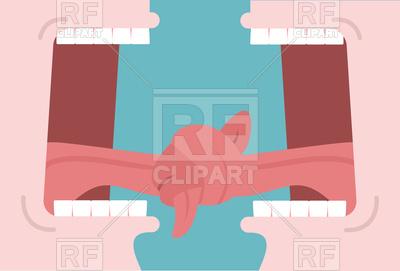 400x271 Tongue Tied Dialog Royalty Free Vector Clip Art Image