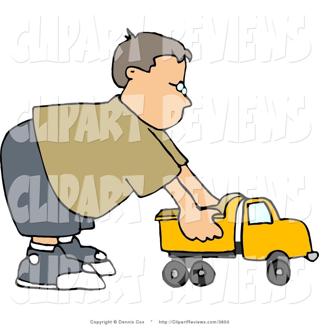 1024x1044 Clip Art Of A Boy Pushing A Tonka Toy Truck By Djart