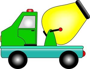 300x231 Dump Truck Cement Mixer Clipart Image Cartoon Drawing Of A Cement
