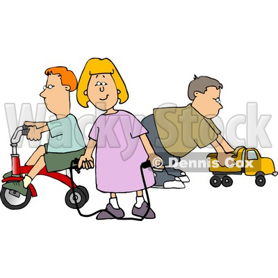 400x400 Young Girl And Boys Playing With Toys Clipart Djart