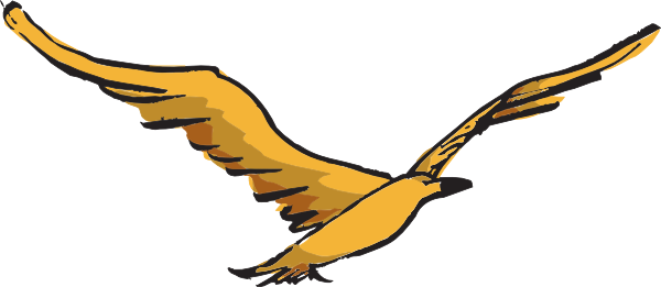 600x261 Collection Of Flying Hawk Clipart High Quality, Free