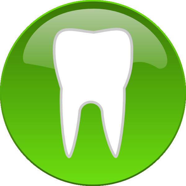 600x600 Dental Tooth Button Clip Art