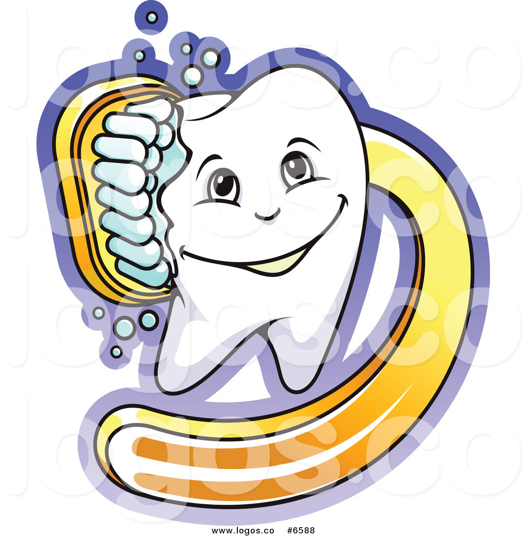 1024x1044 Royalty Free Cliprt Vector Logo Of Tooth Being Scrubbed