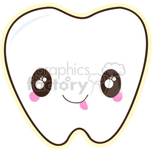 300x300 Royalty Free Tooth Cartoon Character Vector Image 394982 Vector