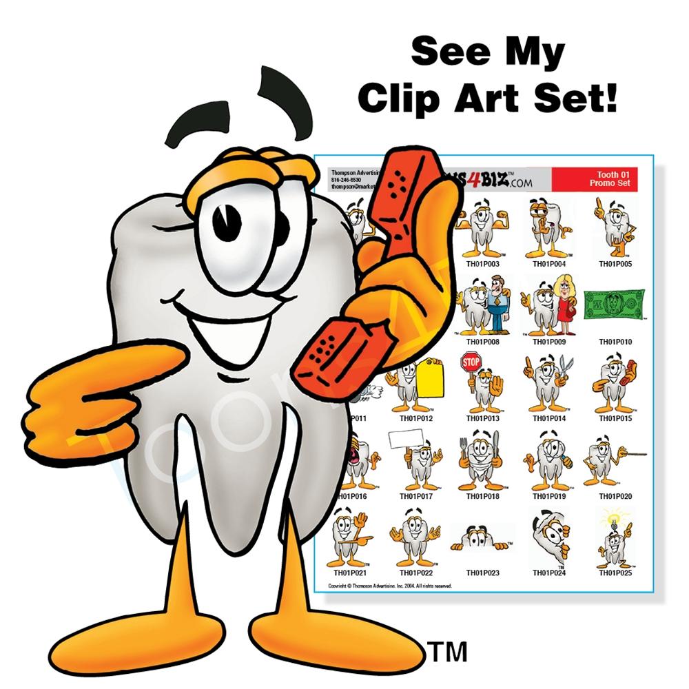 1000x1000 Tooth Mascot Clip Art