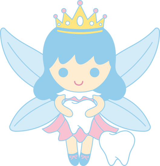 529x550 Cute Tooth Fairy Collecting Teeth