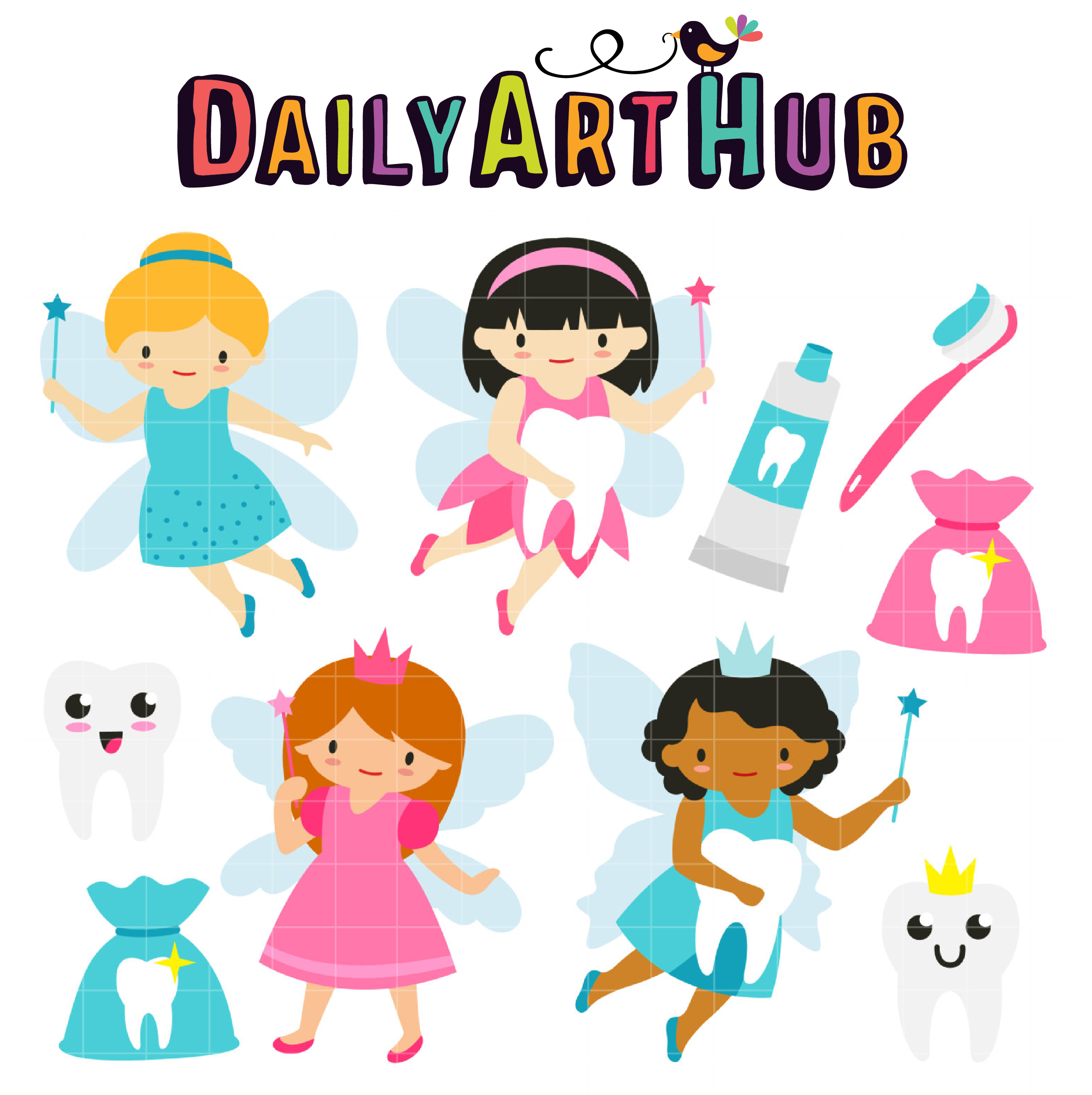 2497x2504 Tooth Fairy Clip Art Set Daily Art Hub Free Clip Art Everyday