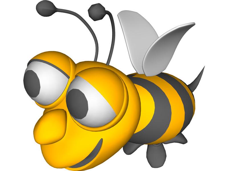 800x600 3d Clipart Bee