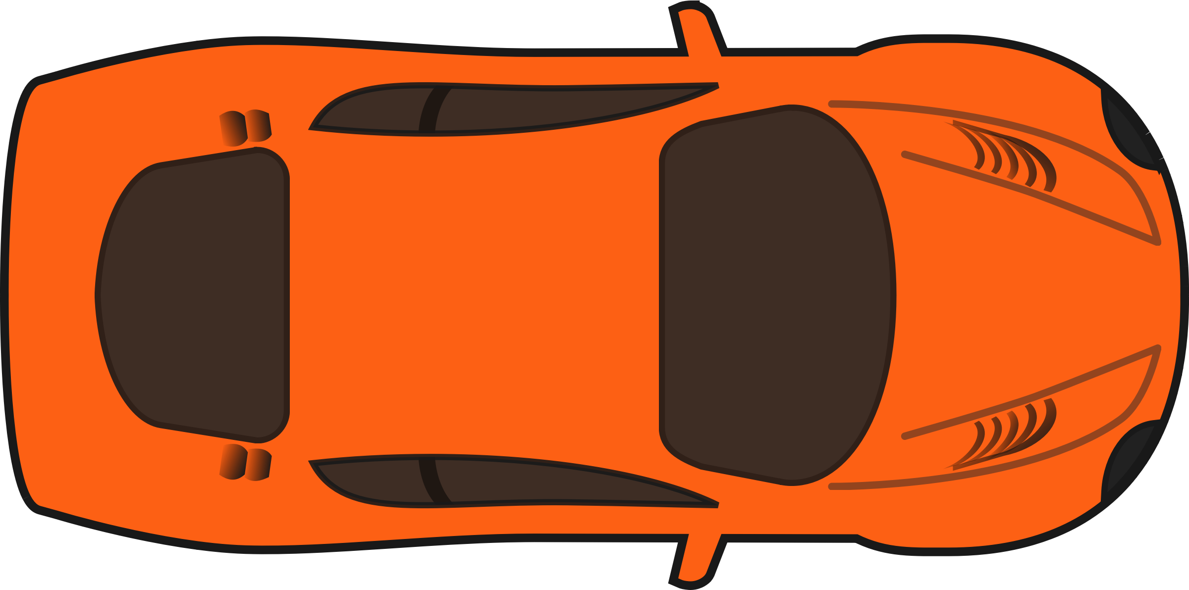 2400x1191 Collection Of Sports Car Clipart Top View High Quality, Free