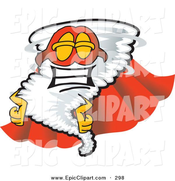 600x620 Vector Cliprt Of Proud Tornado Mascot Cartoon Character In