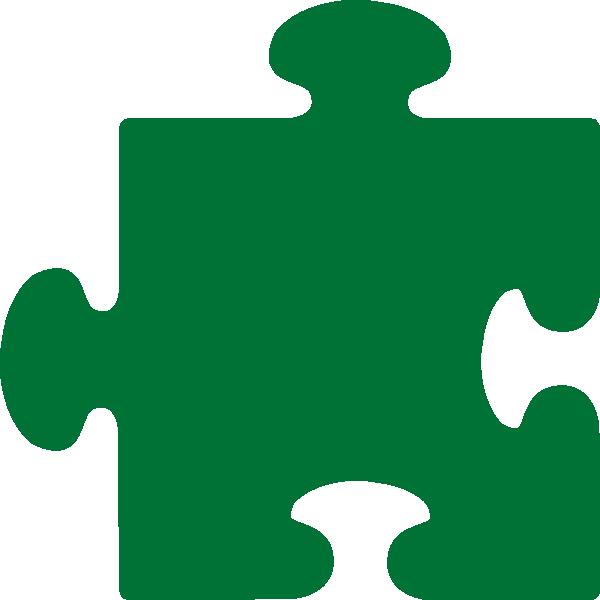 600x600 Green Jigsaw Clip Art
