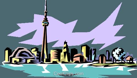 480x273 Toronto Skyline Royalty Free Vector Clip Art Illustration
