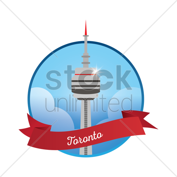 600x600 Cn Tower Vector Image